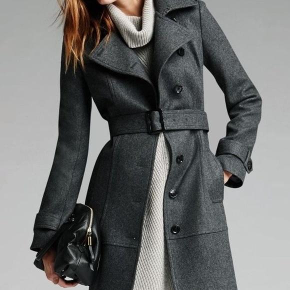 8426dbfb6fde6b Banana Republic Charcoal Gray Wool Trench Coat